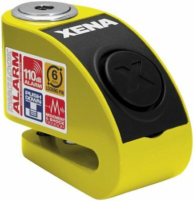 Xena Security XXZ6 Disc-Lock with Alarm with 6mm Pin Yellow