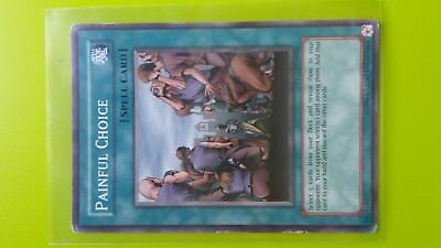 Painful Choice Spell Card Yugioh Trading card Game Konami English Slightly used