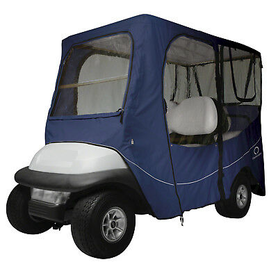 Classic Accessories Fairway Golf Cart Deluxe Enclosure  Navy  Long Roof