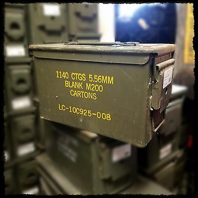 USGI Military Ammo Can M2A1 50 Cal Ammunition Box Surplus Steel Sealed