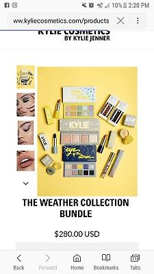 New Kylie Cosmetics WEATHER COLLECTION BUNDLE Sold Out Eye Of The Storm