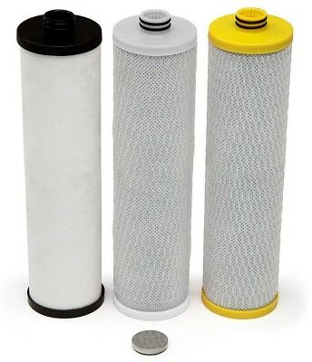 Water Filtration Systems Replacement Filters for 3-Stage Max Flow Under Counter