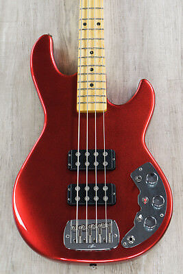 G&L USA L-2000 CLF Research Reissue Bass, Candy Apple Red, Slim Neck Profile
