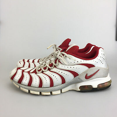 cheap for discount 082b7 4c123 Nike Air Turbulence Running Shoes US 11.5 White Red Vintage Athletic 307802  661