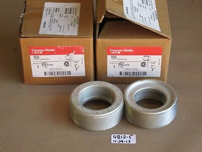 "+Lot Of 4 New In Box Crouse Hinds/eaton 3""-2"" Re86 Conduit Hub Reducer"