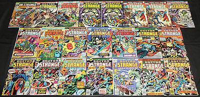 Vintage Marvel Bronze Age DOCTOR STRANGE 22pc Count Mid Grade Comic Lot Avengers