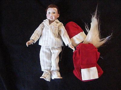 Vintage Mary Moline Doll - Rumbleseat NORMAN ROCKWELL CHARACTER  Boy Davey Santa