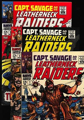 Capt. Savage and his Leatherneck Raiders Lot of 3 #'s 1, 2 and 3 FN-VF W pgs