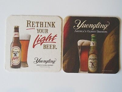 BEER COASTER ~*~ YUENGLING Brewery Light ... America's Oldest Brewery Since 1829