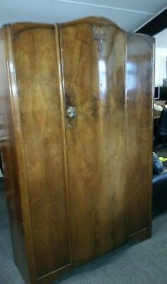 WALNUT WARDROBE 1930's