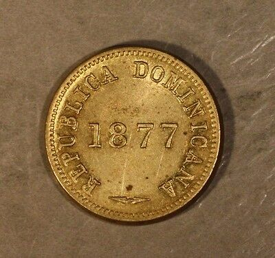 1877 Dominican Republic Centavo Nice High Grade         ** Free U.S. Shipping **