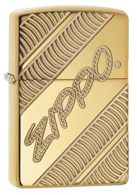 Zippo Windproof Armor Lighter With Zippo Logo, Zippo Coiled, 29625, New In Box