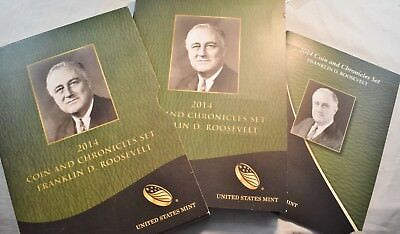 2014 Franklin D. Roosevelt Coin and Chronicles Set Silver Medal, PROOF Dollar $1