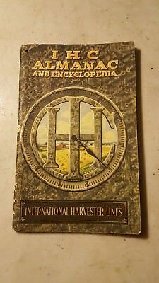 Antique 1913 IHC International Harvester Almanac Hit Miss Engine Tractor