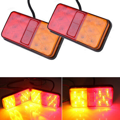 Led Trailer Lights Led Stop Tail Indicator Reflector Truck Camper Tail Light