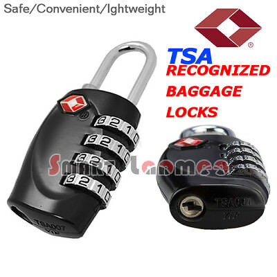 TSA 4 Dial Digit Code Travel Luggage Lock Security Suitcase Combination Padlock