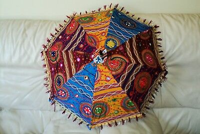 Handmade Indian Patch Work Multi-Color Umbrella Hand crafted (UM-02)