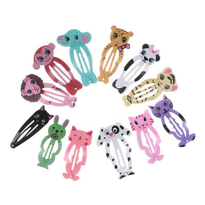 6Pcs Girl Animal Hairpin headwear kid's barrettes Hair clips Snap Clip WL
