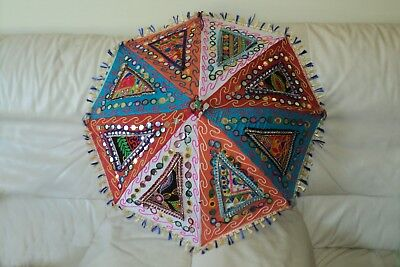 Handmade Indian Patch Work Multi-color Umbrella Hand crafted (UM-03)