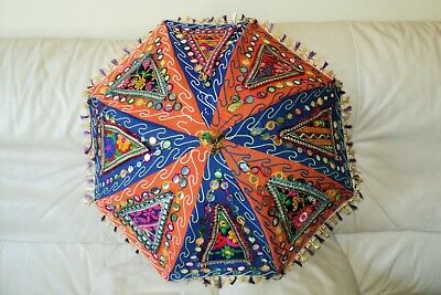 Handmade Indian Patch Work Multi-color Umbrella Hand crafted (UM-07)