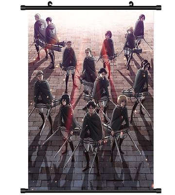 "Hot Japan Anime Attack on Titan Poster Wall Scroll Home Decor 8""×12"" FL1024"