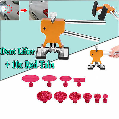 PDR Lifter Glue Puller + 10 Tabs Hail Removal Paintless Car Dent Repair Tool Kit