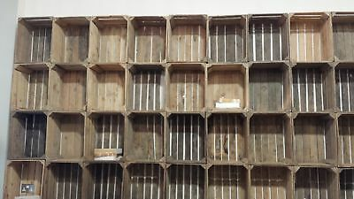 amazing solid vintage wooden apple crates boxes X6 EXPRESSDELIVERY1-2 DAYS.