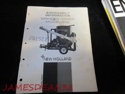 new holland 350 grinder mixer assembly instructions predelivery rh picclick com 2013 New Holland Feed Grinder New Holland 352 Grinder Parts