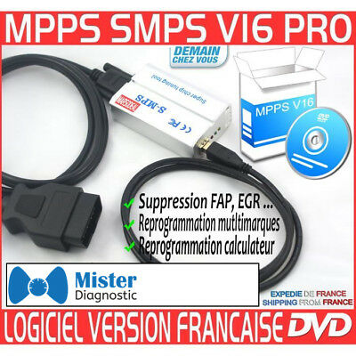 ★ EXCLUSIVITE ★ Interface MPPS V3.0 PROFESSIONNEL + Logiciel MPPS V16 TUNING