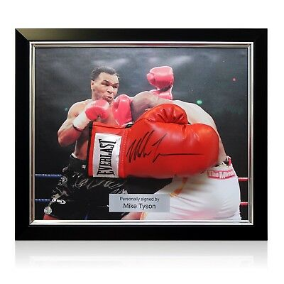 Mike Tyson Signed Red Everlast Boxing Glove In Deluxe Dome Frame