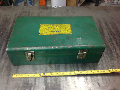 EMPTY BOX ONLY Greenlee 7646 Hydraulic Knockout Punch Driver MISSING 1 LID CLASP