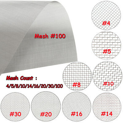 304 Mesh Stainless Steel Wire Cloth Screen Filter 4/5/8/10/14/16/20/30/100