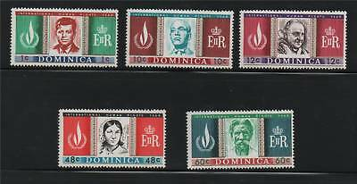 Dominica 1968 Human Rights Year SG 209/13 MNH