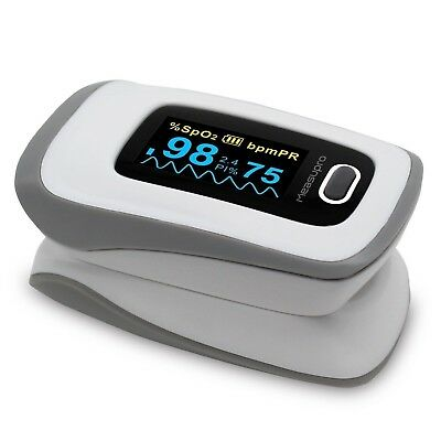 MeasuPro OX250 Instant Read Digital Pulse Oximeter with Alarm Setting BRAND NEW