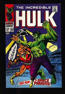 Incredible Hulk #103 VF- OW pgs 2nd issue Space Parasite - Original Owner