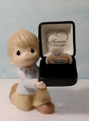 Precious Moments Boy Holding Engagement Ring Box For The One I Love 113095 ~ Nib