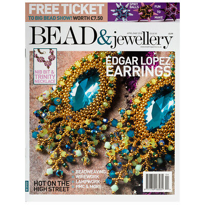 Bead & Jewellery Magazine April/May Issue 85 Ticket to Big Bead Show  (D24/9)