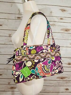 NEW Vera Bradley Whitney Bag in Plum Crazy NWT Floral Purse Shoulder Tote