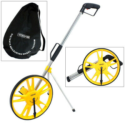 Voche Folding Distance Measuring Wheel With Stand & Bag Surveyors Builders Roads