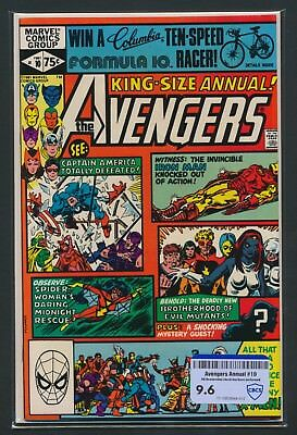 Marvel Comics Avengers Annual #10 1981 Cbcs Raw Grade 9.6 1St Rogue/m. Pryor App