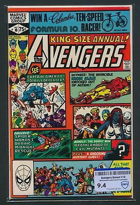 Marvel Comics Avengers Annual #10 1981 Cbcs Raw Grade 9.4 1St Rogue/m. Pryor App