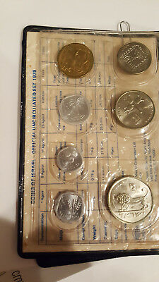 Coins of Israel 1979 Uncirculated Mint Set - 7 coins in wallet folder