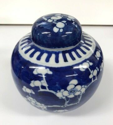 Blue and White Oriental Ginger Jar Flowers