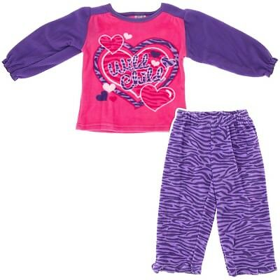 Purple Wild Child Fleece Pajamas for Infants and Toddler Girls