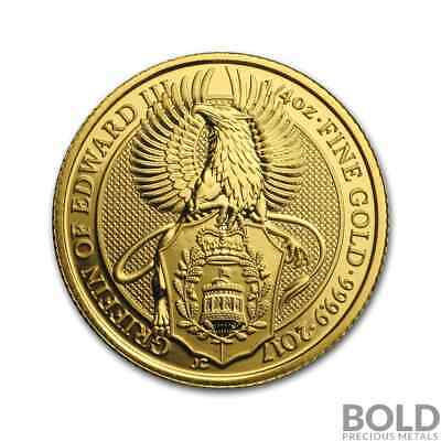 2017 Gold Great Britain Queen's Beasts (The Griffin) - 1/4 oz