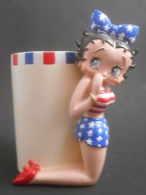 Betty Boop Americana American Pin Up Girl Resin Tumbler EUC Toothbrush Holder