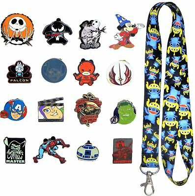 Fathers Day Set w/ 1 Lanyard & 10 Assorted Disney Park Trading Pins ~ Brand NEW