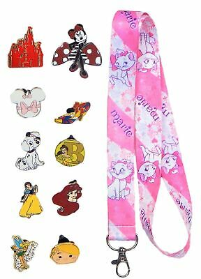 Mothers Day Set w/ 1 Lanyard & 10 Assorted Disney Park Trading Pins ~ Brand NEW