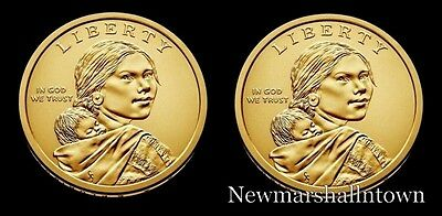 2018 P+D Native American Sacagawea Business Strike from US Mint Roll