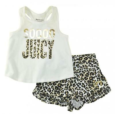 Juicy Couture Girls Animal print 2pc Short Set Size 2T 3T 4T 4 5 6 6X